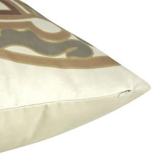 Almofada Arabesco Marrom 50 x 50 Com Enchimento Veludo