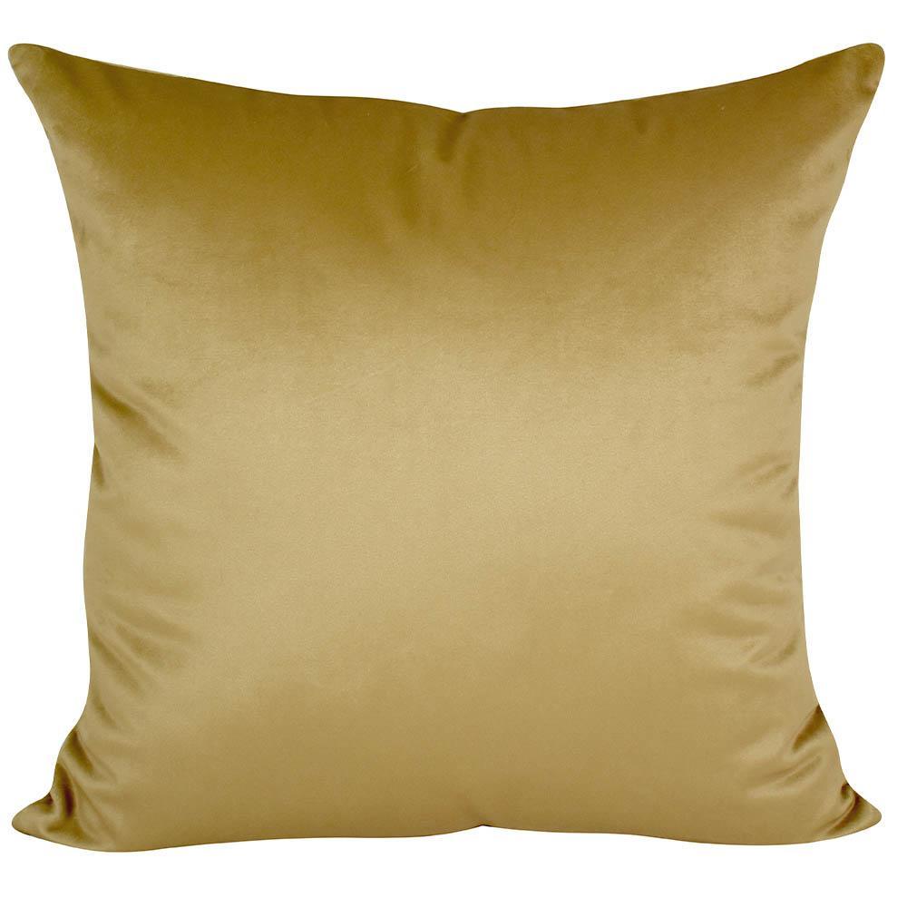 Almofada Decorativa Mostarda 50 x 50 Com Enchimento Veludo