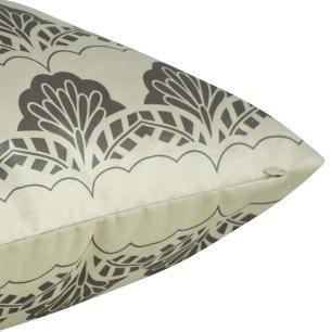 Almofada Arabesco Cinza Escuro 50 x 50 Com Enchimento Veludo