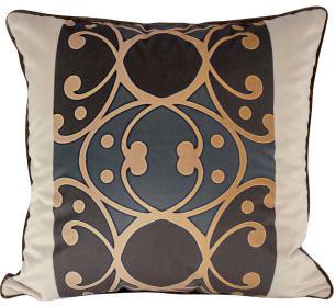 Almofada Arabesco Marrom-50 x 50-Com Enchimento-Veludo