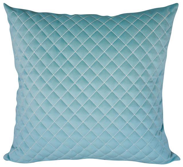 Almofada Bordada Azul Tiffany-50 x 50-Com Enchimento-Veludo