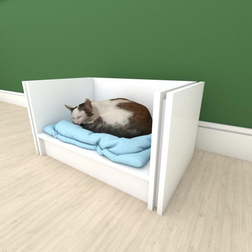 Mesa de cabeceira camapet para Gato em mdf Branco