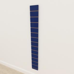 Painel canaletado 18mm Azul Escuro Soft altura 180 cm comp 20 cm