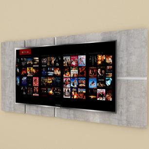 Painel Tv pequeno moderno rustico com branco
