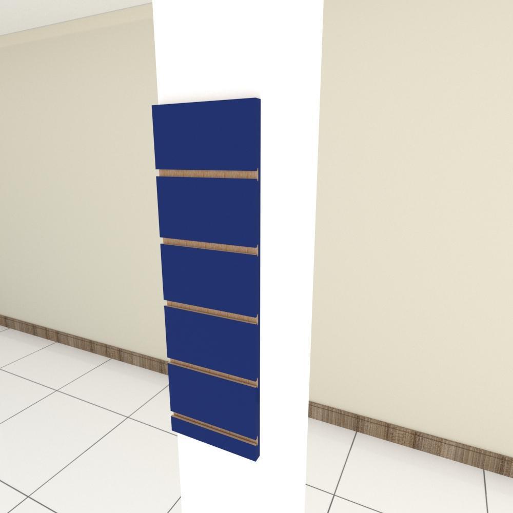Painel canaletado para pilar azul escuro 1 peça 20(L)x60(A) cm
