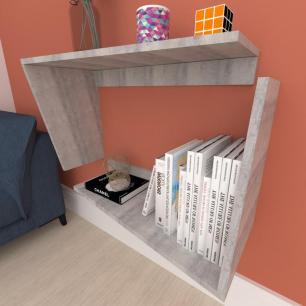 Mesa lateral, suspenso, em mdf Rustico
