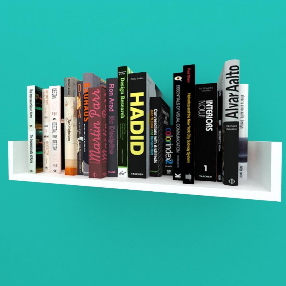 Estante de Livros nichos modernos, em mdf branco