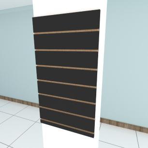 Painel canaletado para pilar preto 1 peça 50(L)x90(A)cm