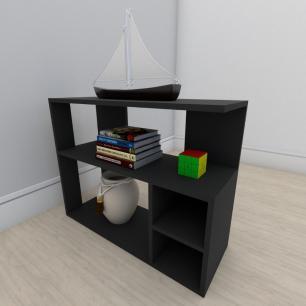 Estante para livros formato slim em mdf Preto