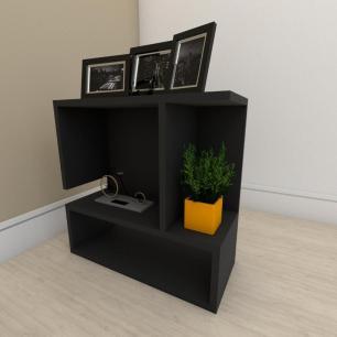 Mesa de Cabeceira simples em mdf Preto