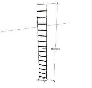 Expositor canaletado 18mm Branco Texturizado altura 180 cm comp 20 cm