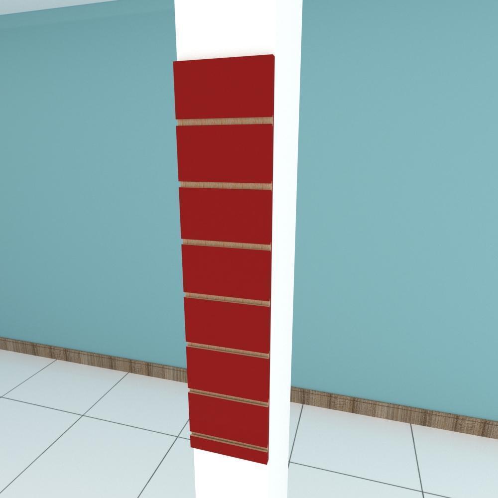 Painel canaletado para pilar vermelho escuro 1 peça 20(L)x90(A)cm