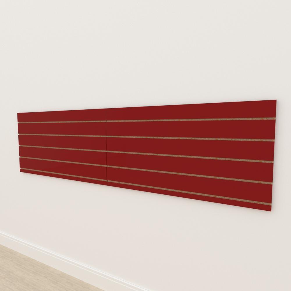 Painel canaletado 18mm Vermelho Escuro Tx altura 60 cm comp 240 cm