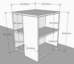 kit com 2 Mesa de cabeceira para sofá moderna amadeirado escuro