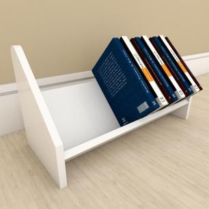 Kit com 2 Organizador para livros Branco