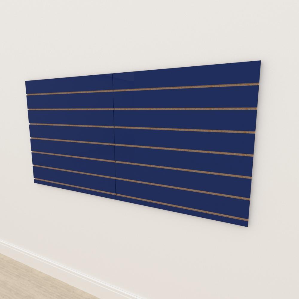 Painel canaletado 18mm Azul Escuro Soft altura 90 cm comp 180 cm