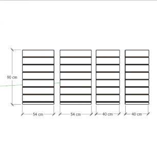 Kit 4 Painel canaletado para pilar branco 2 peças 54(L)x90(A)cm + 2 peças 40(L)x90(A)cm