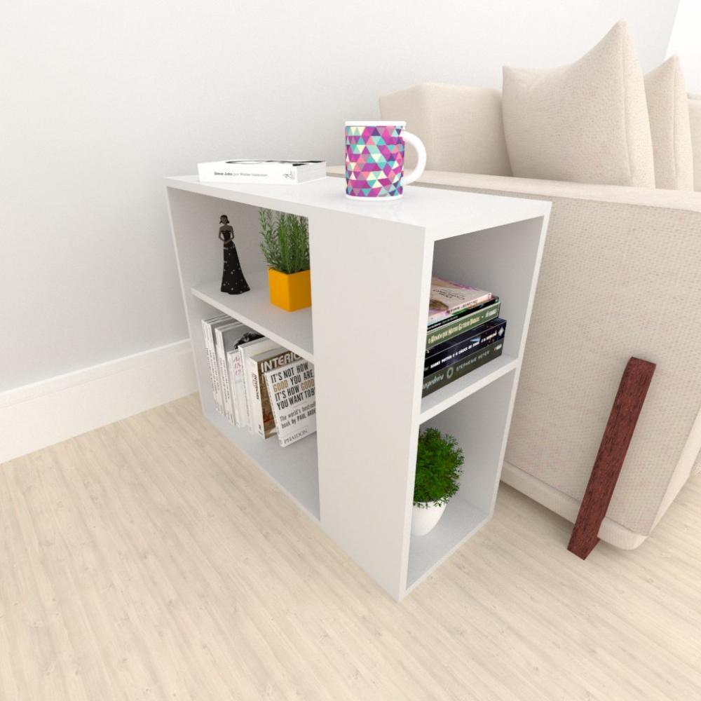 Mini estante para escritório em mdf Cinza