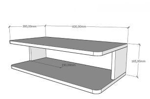 Mini rack moderno amadeirado claro