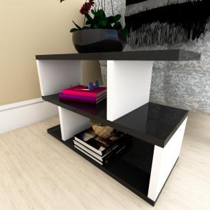 Estante de Livros moderna preto com branco
