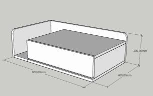 Mesa de cabeceira moderna cinza com rustico