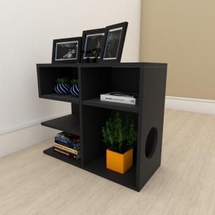Estante escritório simples em mdf Preto