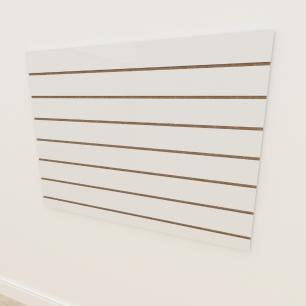 Painel canaletado 18mm Branco Texturizado altura 90 cm comp 120 cm