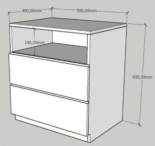 Mesa de cabeceira moderna rustico com preto