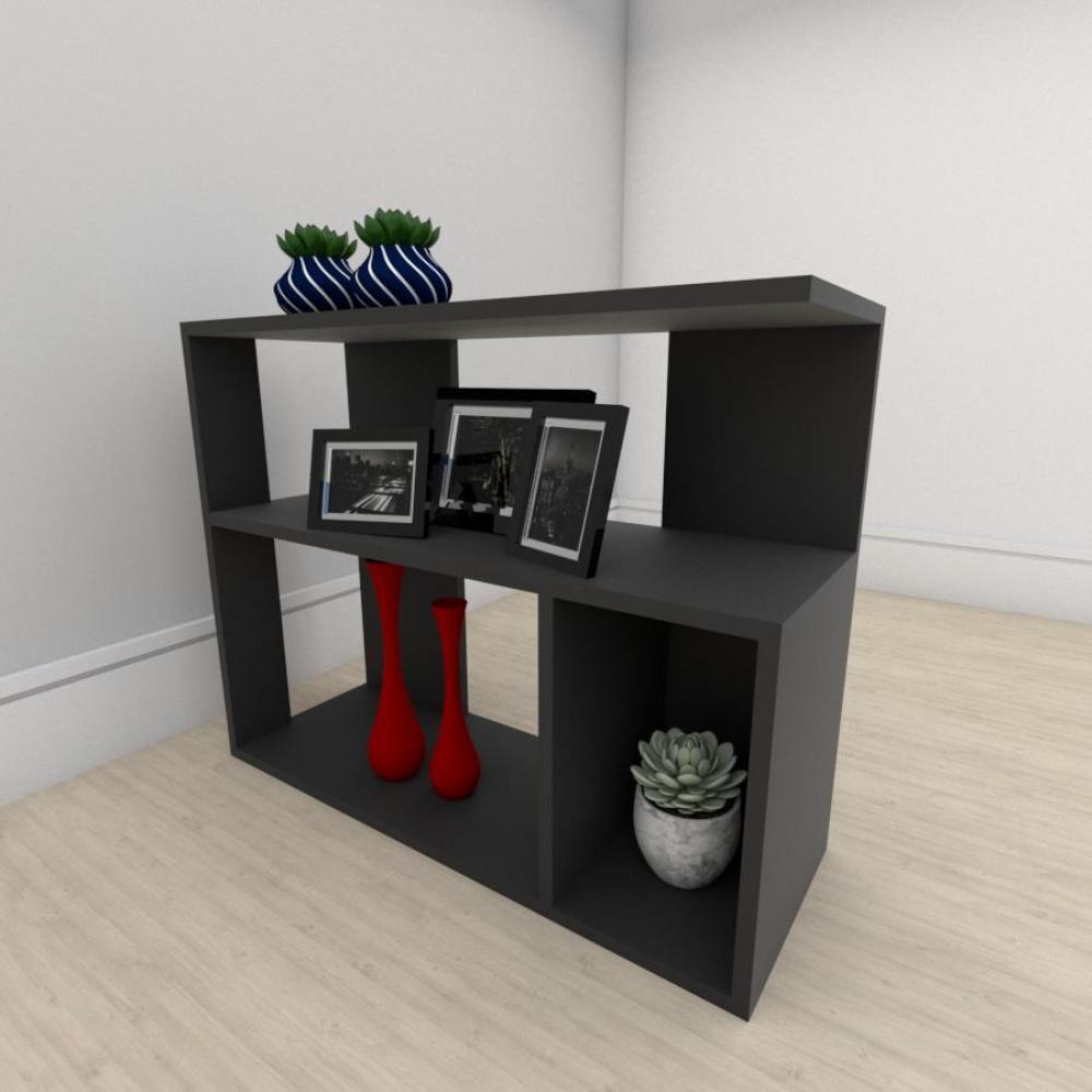 kit com 2 Mesa de cabeceira formato minimalista em mdf Preto