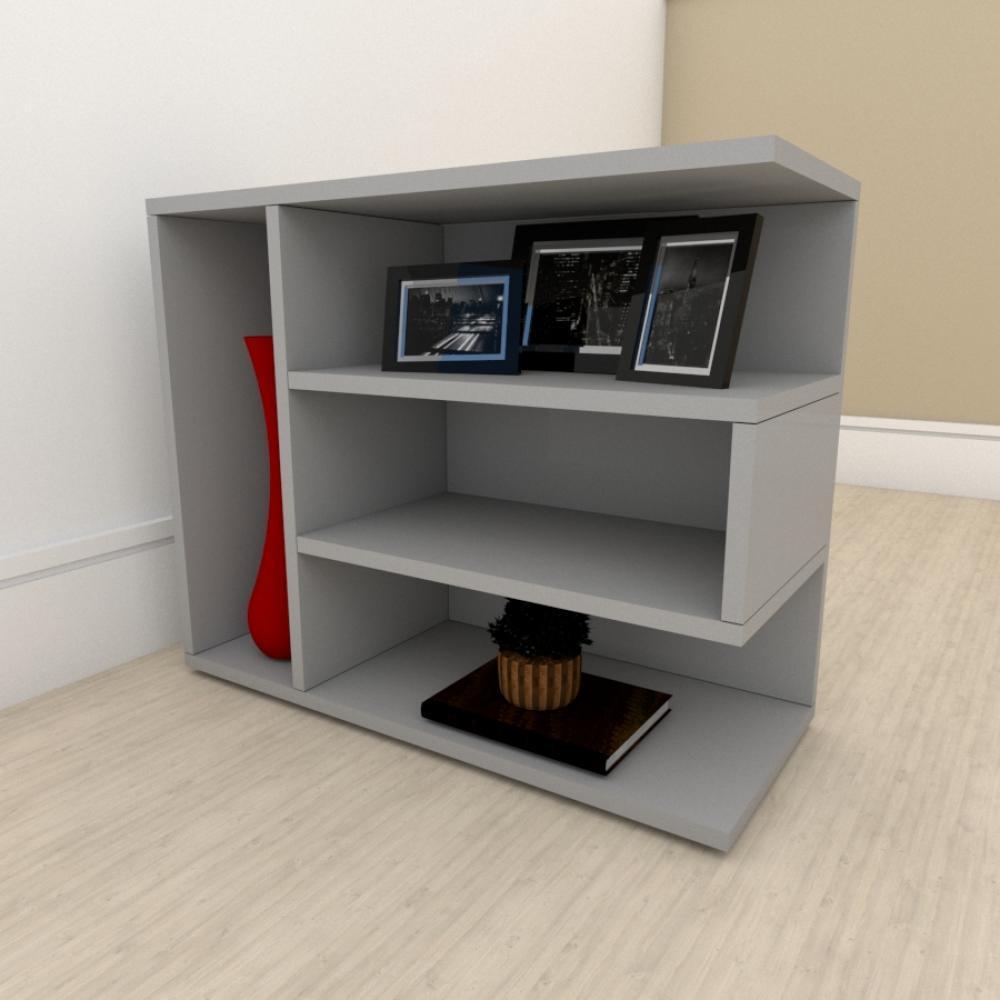 Estante escritório simples em mdf Cinza