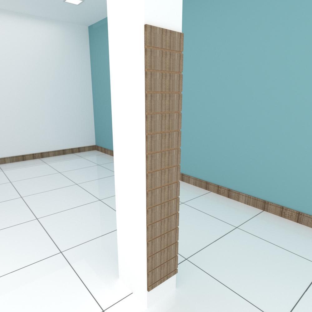 Painel canaletado para pilar amadeirado escuro 1 peça 30(L)x180(A)cm