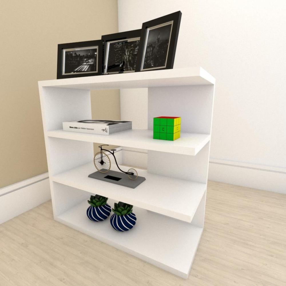 Estante para livros slim com 3 niveis em mdf Branco