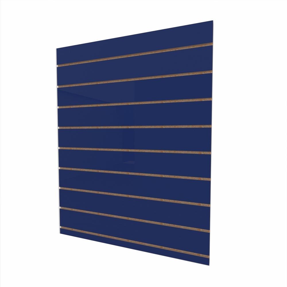 Expositor canaletado 18mm Azul Escuro Soft altura 120 cm comp 90 cm