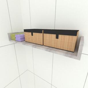 Prateleira para cozinha, em mdf 50x20 Rustico