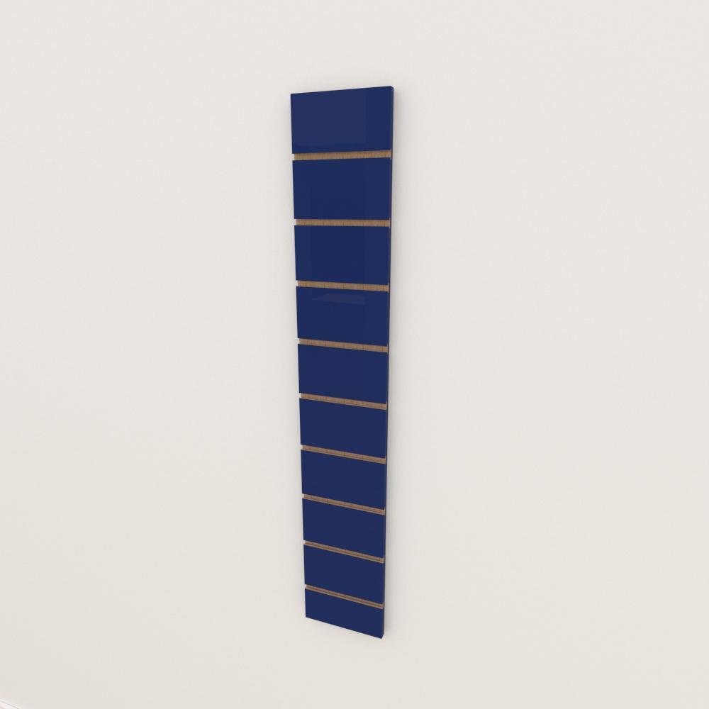 Painel canaletado 18mm Azul Escuro Soft altura 120 cm comp 20 cm