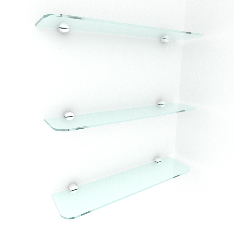 kit com 3 Prateleira de vidro temperado para escritorio 40(C)x8(P)cm