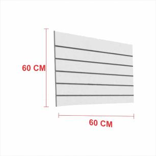 Painel canaletado 18mm cinza altura 60 cm comp 60 cm
