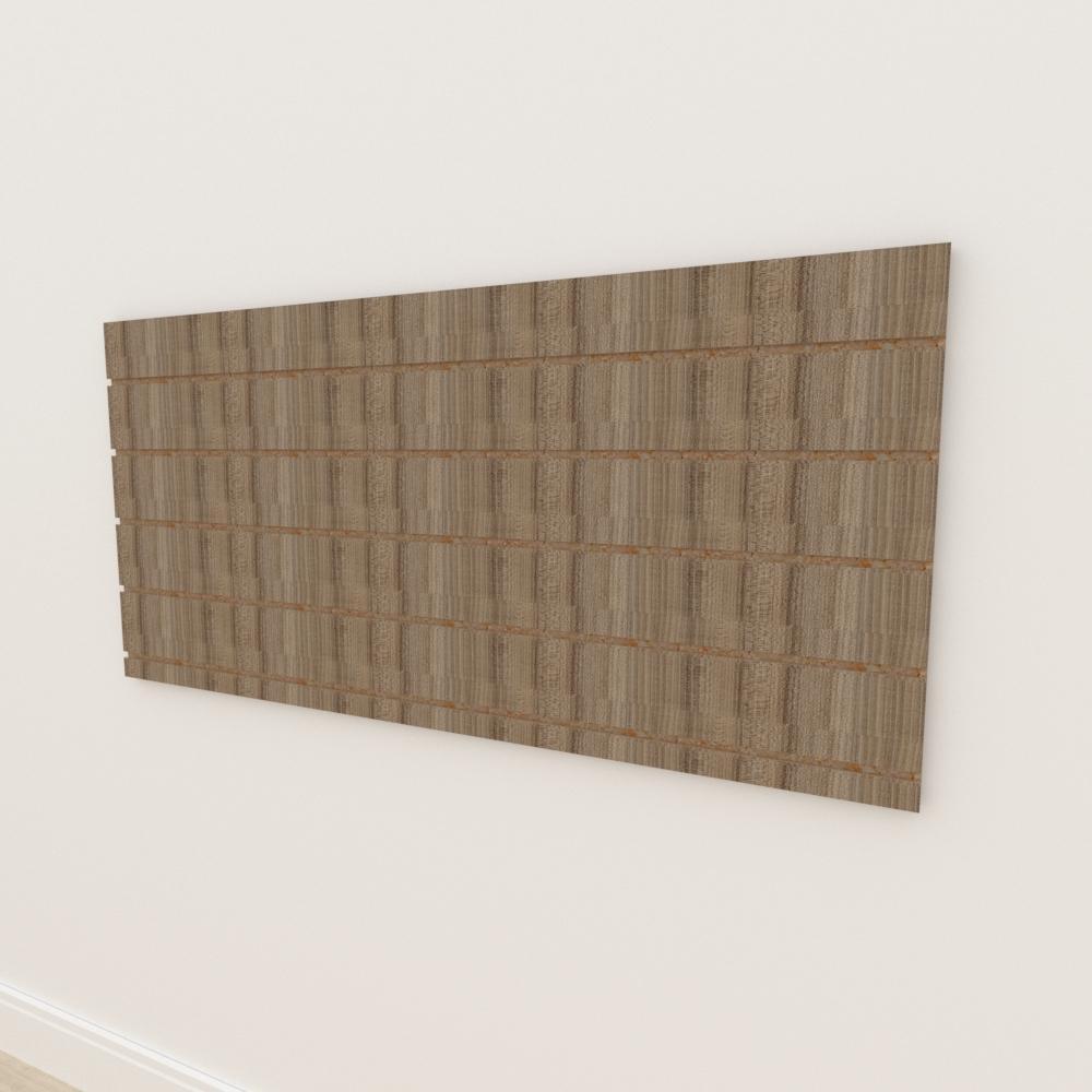Painel canaletado 18mm amadeirado escuro altura 60 cm comp 135 cm