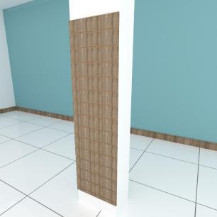 Painel canaletado para pilar amadeirado escuro 1 peça 50(L)x180(A) cm