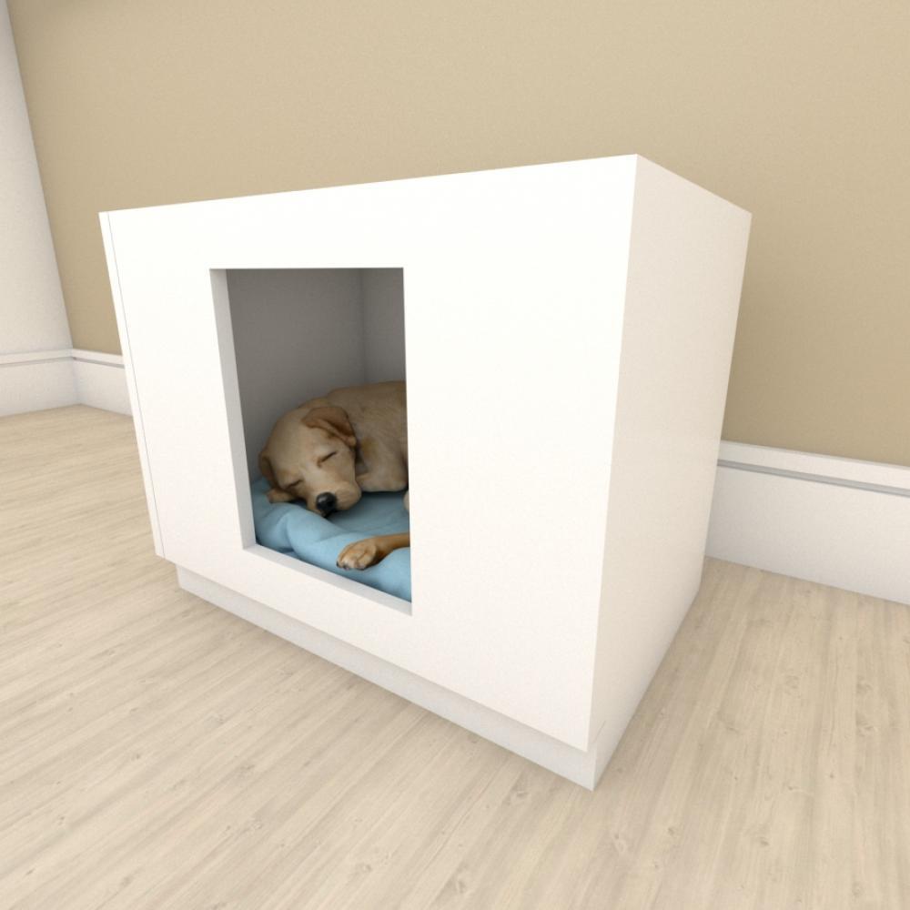 bercinho casinha para cachorro em mdf Branco