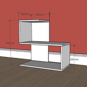 Estante para livros formato S simples em mdf Preto
