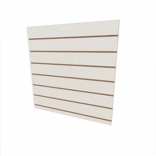 Expositor canaletado 18mm Branco Texturizado altura 90 cm comp 90 cm