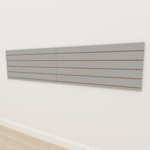 Painel canaletado 18mm Cinza Cristal Tx altura 60 cm comp 270 cm