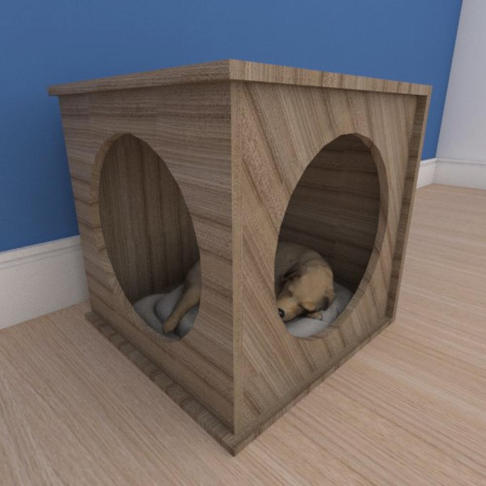 Mesa de cabeceira caminha bercinho pequeno cachorro em mdf amadeirado