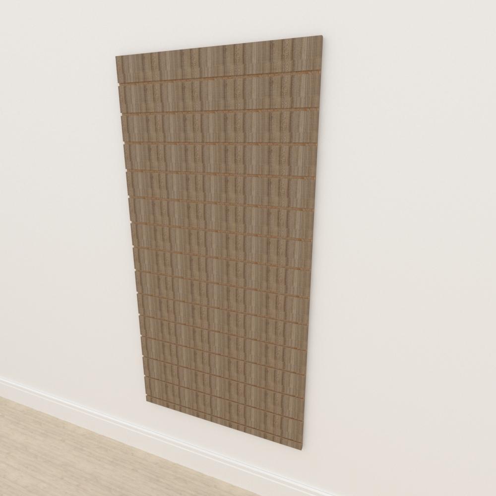 Painel canaletado 18mm amadeirado escuro altura 180 cm comp 90 cm