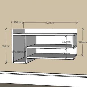 Mesa de Cabeceira pequeno com nichos em mdf Branco