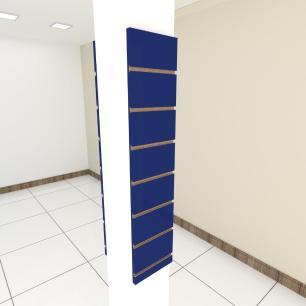 Kit 2 Painel canaletado para pilar azul escuro 2 peças 20(L)x90(A) cm