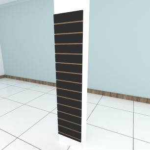 Painel canaletado para pilar preto 1 peça 40(L)x180(A) cm