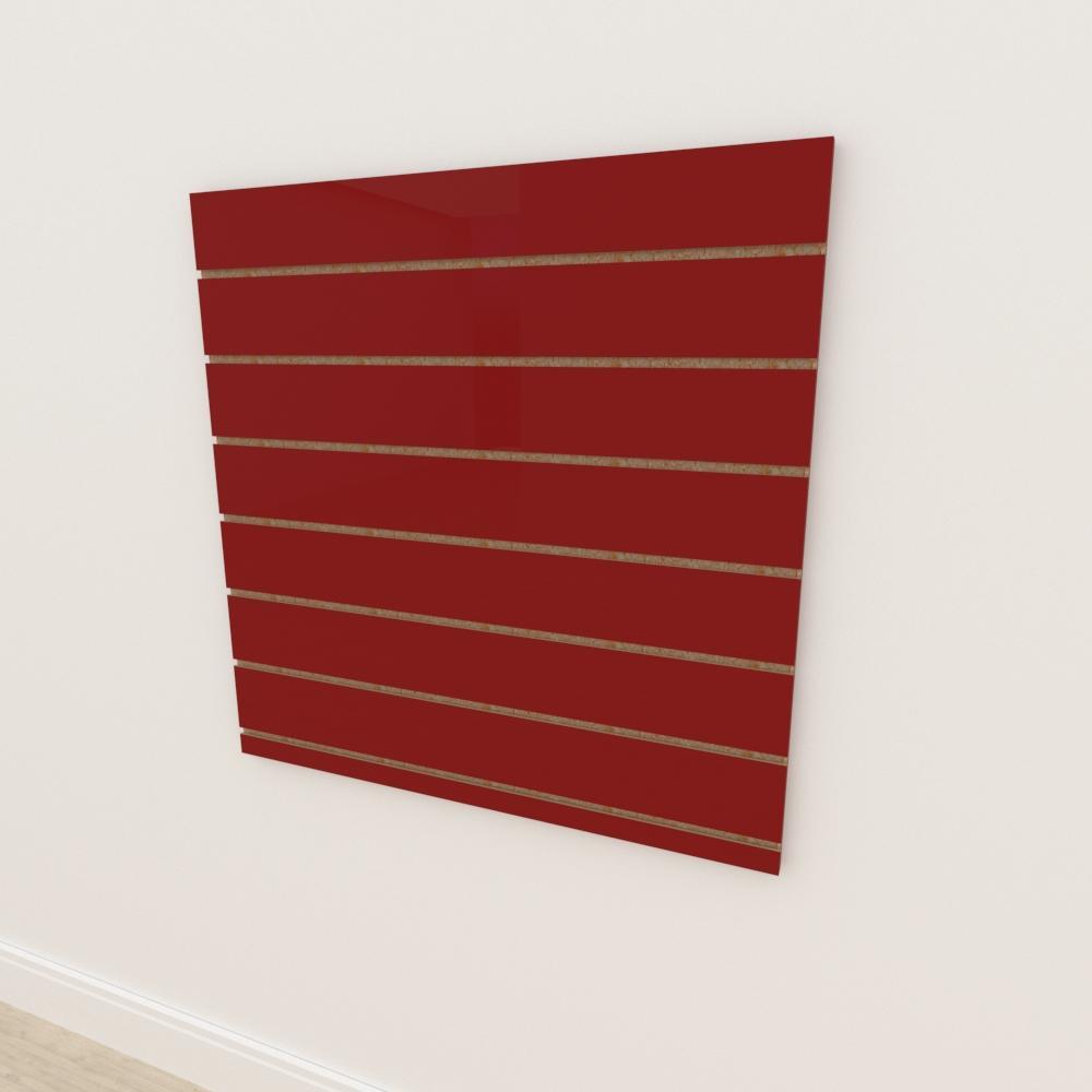 Painel canaletado 18mm Vermelho Escuro Tx altura 90 cm comp 90 cm