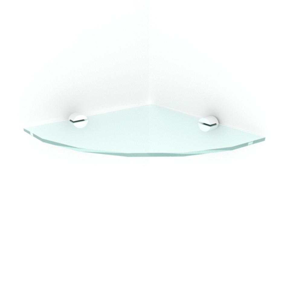 kit com 1 Prateleira para canto de vidro temperado para sala profundidade 20 cm